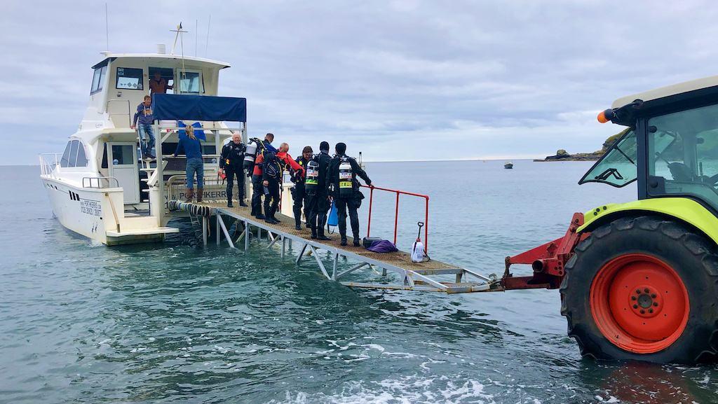 Smiling Divers Returning Fom The Vase Reef On Friday