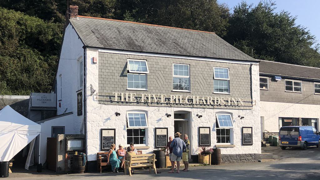 The Five Pilchards at Porthallow