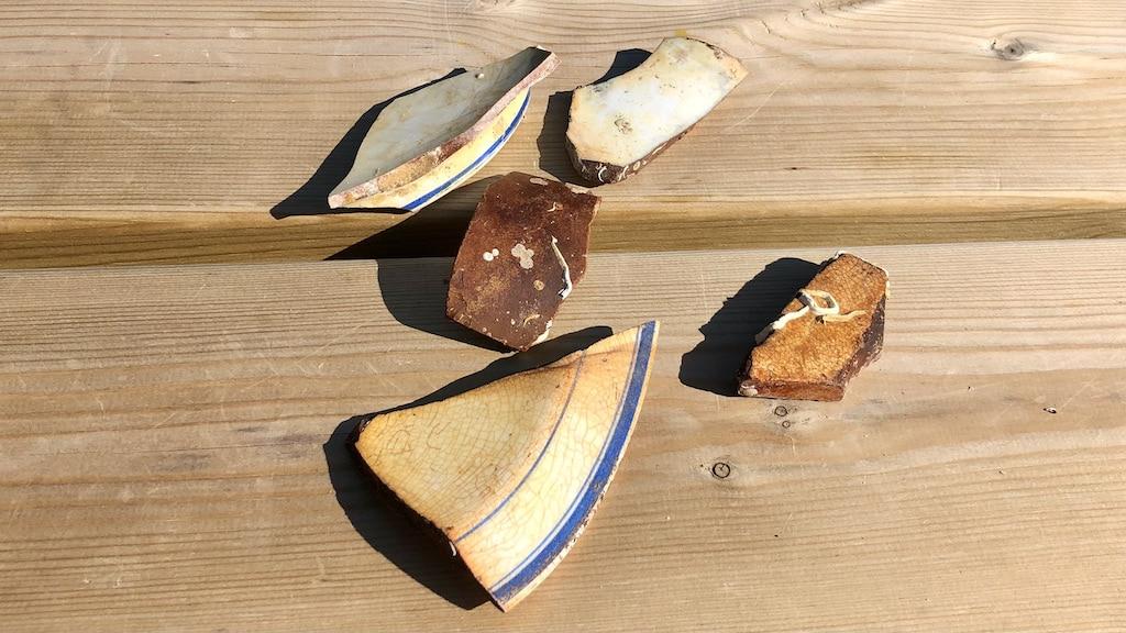 Broken Crockery Fragments Can Still Be Found On The Mohegan