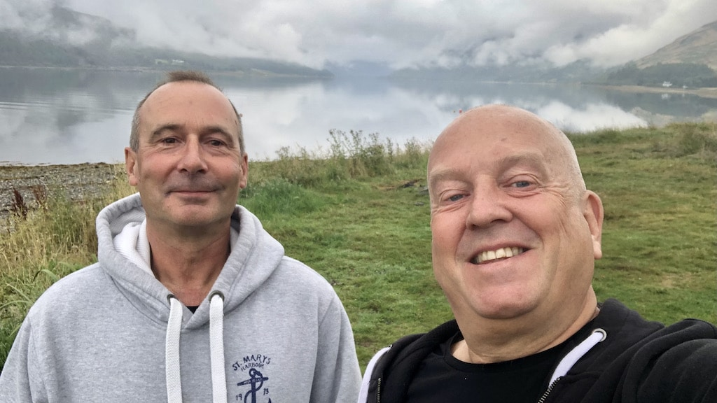Tom and Mark at Loch Striven